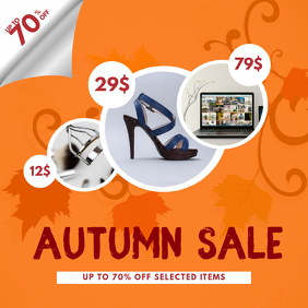 Autumn Fall Sale Instagram post template