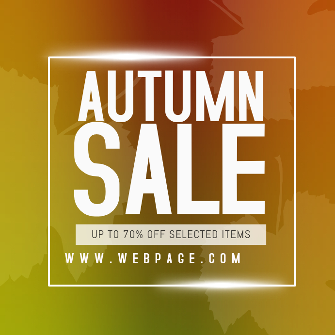 autumn fall sale instagram promotion post template