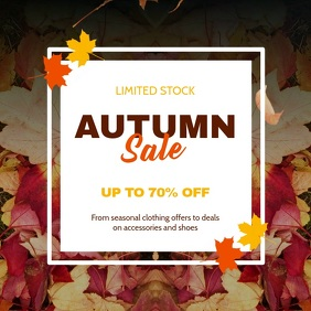 Autumn/Fall Sale Instagram Video Template