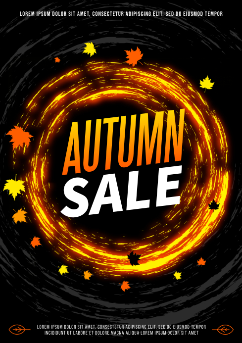 AUTUMN/FALL SALE POSTER A4 template