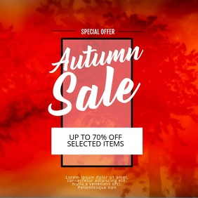 Autumn Fall Sale Video Ad Template