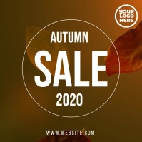 Autumn/fall sale video flyer template Square (1:1)