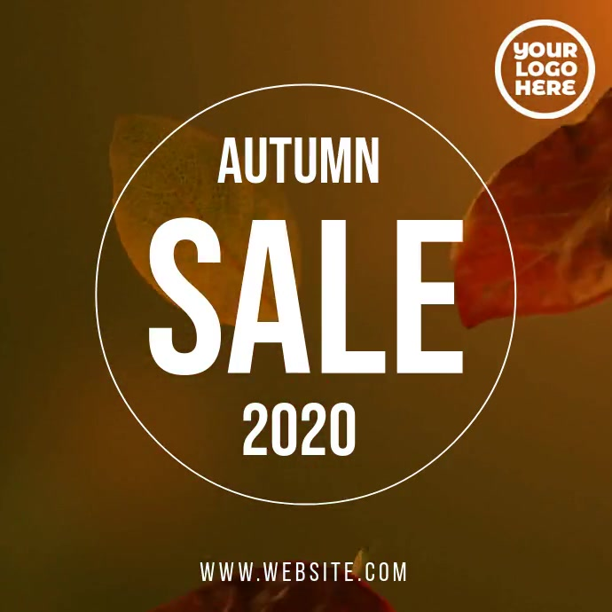 Autumn/fall sale video flyer template Kvadrat (1:1)