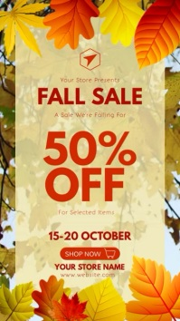 Autumn Fall Sale Video Template Instagram-verhaal