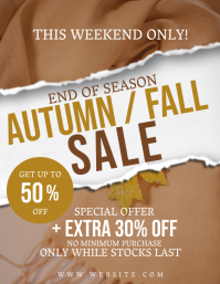 Autumn Fall Season Sale Flyer Template Volantino (US Letter)