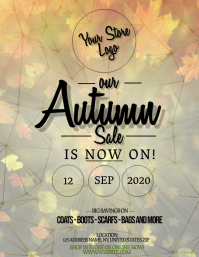 Autumn Fall Store Sale Flyer Template