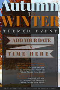 Autumn Fall Winter Transition Event Party Retail Business