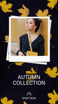Autumn fashion instagram story template