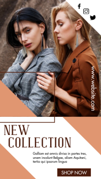 autumn fashion sales design template