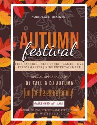 AUTUMN FEST FESTIVAL Event Flyer Template