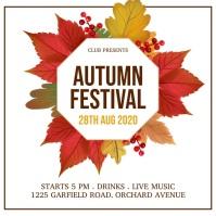 autumn festival, fall, harvest Flyer (US Letter) template