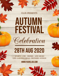 autumn festival, fall, harvest Pamflet (Letter AS) template