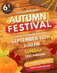 Autumn Festival, Fall Flyer (US Letter) template