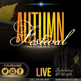 autumn festival ad template