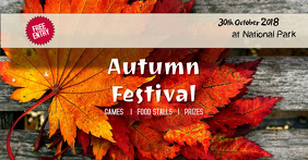 autumn festival Facebook-Anzeige template