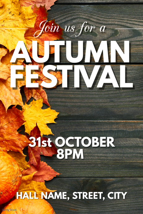 Autumn festival Póster template