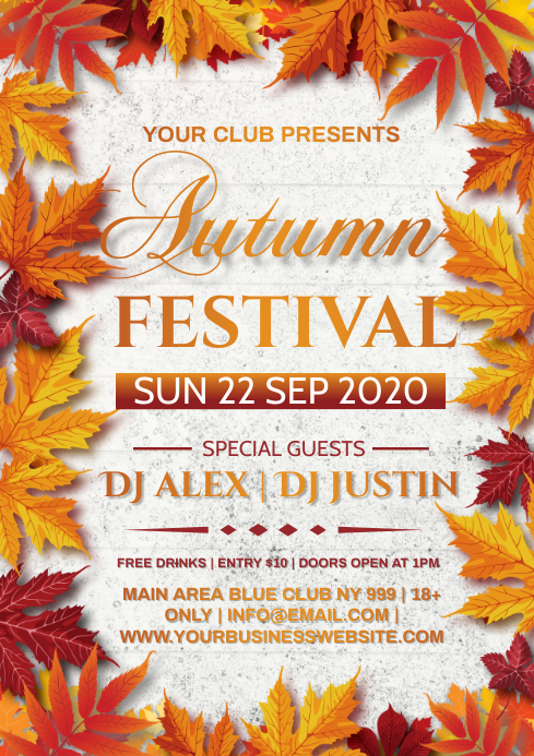 AUTUMN FESTIVAL A4 template