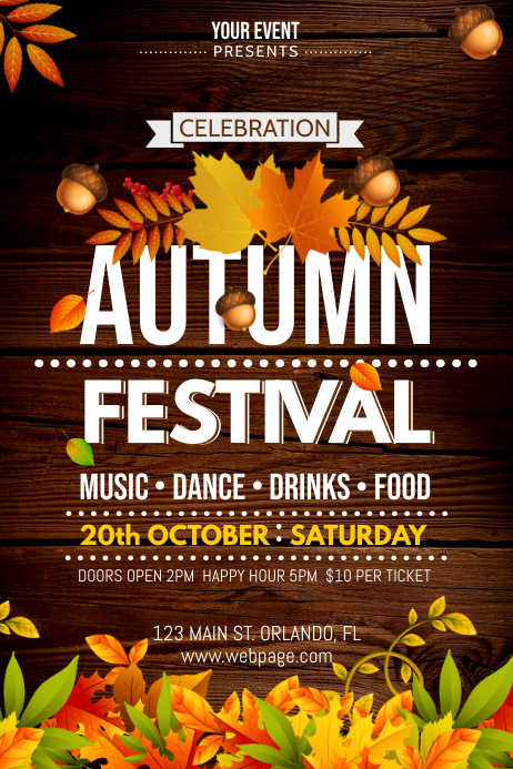 AUTUMN FESTIVAL Iphosta template