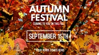 autumn festival Digital Display (16:9) template