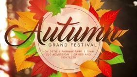 Autumn Festival Event Facebook Cover Video Template