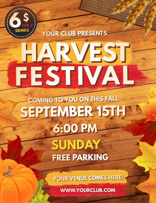 autumn festival flyer, fall, harvest