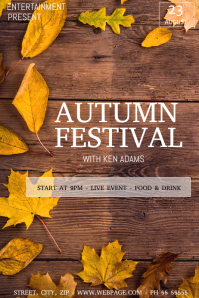 Autumn festival flyer template Poster