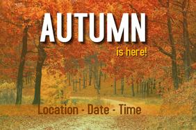 Autumn festival poster