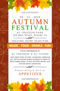 Autumn Festival Poster template