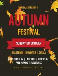 Autumn Festival video Flyer Template