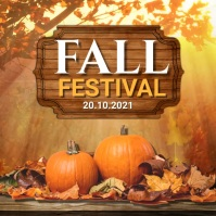 autumn flyer, autumn sale, fall, harvest Wpis na Instagrama template