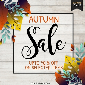 autumn flyer, autumn sale, fall, harvest Cuadrado (1:1) template