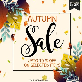 autumn flyer, autumn sale, fall, harvest Square (1:1) template