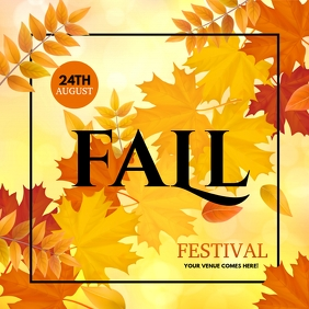 autumn flyer, autumn sale, fall, harvest Instagram Post template