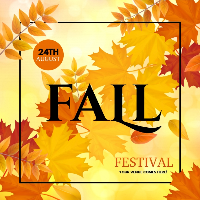 autumn flyer, autumn sale, fall, harvest Instagram-bericht template