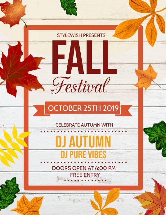 Autumn flyer, Event flyer, Environmental
