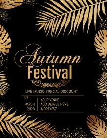 autumn flyer,event template,party template