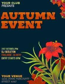 Autumn flyers,event flyers,party flyers