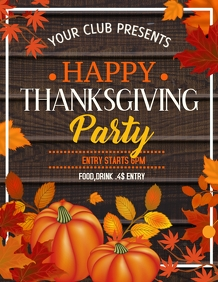 Autumn flyers,event flyers,thanks giving