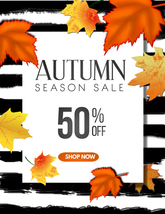 Autumn flyers,Event flyers Folheto (US Letter) template