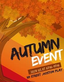 Autumn flyers,event flyers