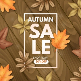 Autumn flyers,fall flyers,event flyers Square (1:1) template