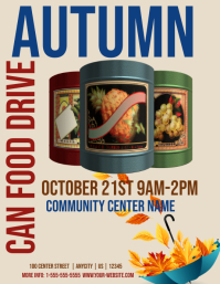 Autumn Food Drive Template