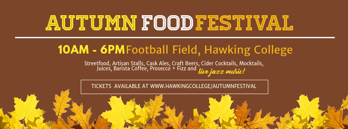 Autumn Food Event Facebook Cover Template Zdjęcie w tle na Facebooka