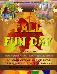AUTUMN fun day EVENT FLYER POSTER TEMPLATE