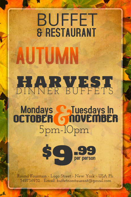 Autumn Harvest Event Flyer Template Postermywall