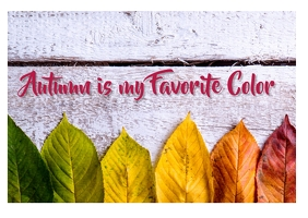 Autumn is my favorite color Postcard template