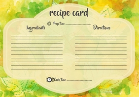 Autumn leaves recipe card