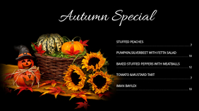 Autumn Menu 03 Digitale Vertoning (16:9) template