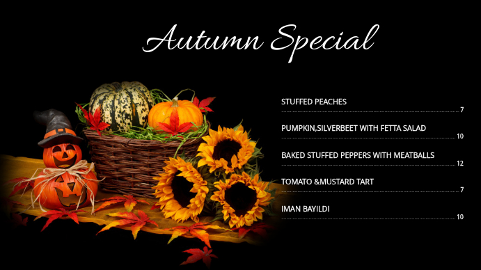 Autumn Menu 03