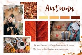 Autumn Moodboard Landscape Poster template